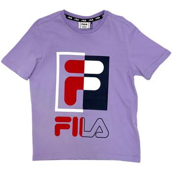 tekstylia Dziecko T-shirty z krótkim rękawem Fila 688149 Różowy