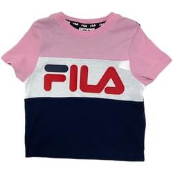 tekstylia Dziecko T-shirty z krótkim rękawem Fila 688023 Różowy