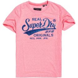 tekstylia Damskie T-shirty z krótkim rękawem Superdry G10135TT Różowy