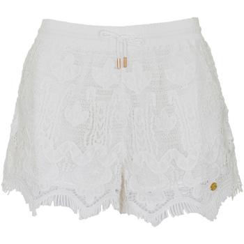 tekstylia Damskie Szorty i Bermudy Superdry G71102OT Biały