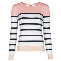 tekstylia Damskie Swetry Betty London ORALI Różowy / Ecru