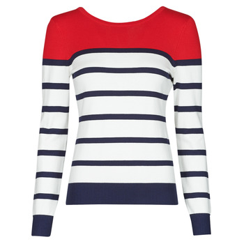 tekstylia Damskie Swetry Betty London ORALI Czerwony / Ecru