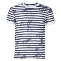 tekstylia Męskie T-shirty z krótkim rękawem Yurban OLORD Marine / Biały