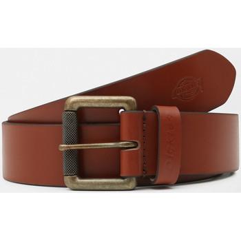 Dodatki Męskie Paski Dickies South shore leather belt Brązowy