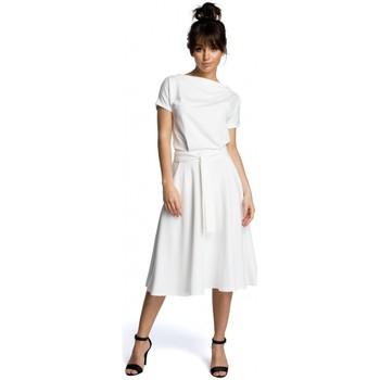 tekstylia Damskie Sukienki krótkie Be B067 Rozkloszowana sukienka - ecru