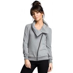 tekstylia Damskie Bluzy Be B071 Zipped sweatshirt - grey