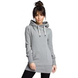 tekstylia Damskie Bluzy Be B072 Long pullover - grey