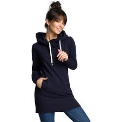 tekstylia Damskie Bluzy Be B072 Long pullover - navy blue