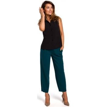 tekstylia Damskie Topy / Bluzki Style S172 Koszula bez rękawów - czarna