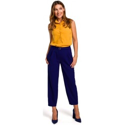 tekstylia Damskie Topy / Bluzki Style S172 Koszula bez rękawów - żółta