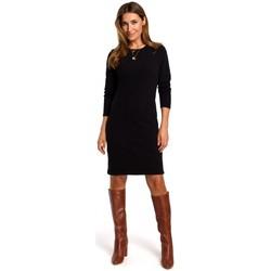 tekstylia Damskie Sukienki krótkie Style S178 Long sleeve sweater dress - black