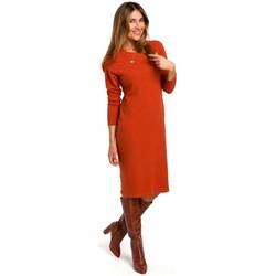 tekstylia Damskie Sukienki krótkie Style S178 Long sleeve sweater dress - ginger
