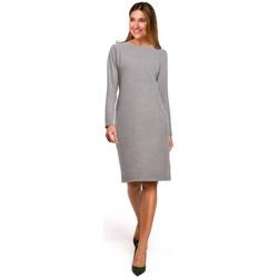 tekstylia Damskie Sukienki krótkie Style S178 Long sleeve sweater dress - grey