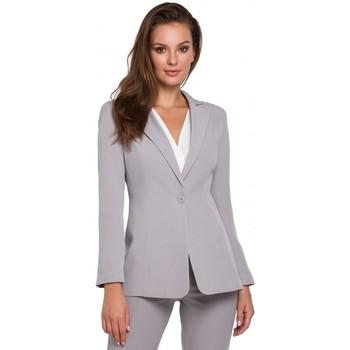 tekstylia Damskie Marynarki Makover K036 Single buttom blazer - grey