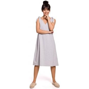 tekstylia Damskie Sukienki krótkie Be B148 Tie-strap trapeze dress - grey