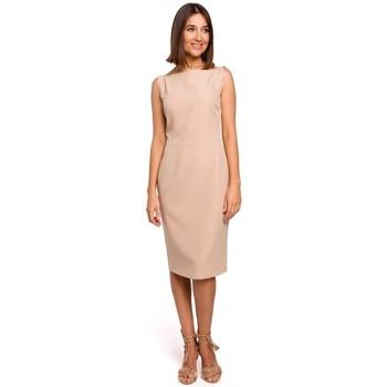 tekstylia Damskie Sukienki Style S216 Sleeveless pencil dress - beige