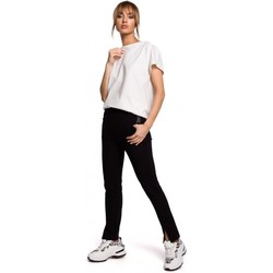 tekstylia Damskie Chinos Moe M493 Split leg trousers - black