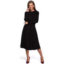 tekstylia Damskie Sukienki długie Style S234 Sukienka fit and flare - czarna
