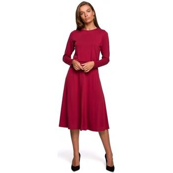 tekstylia Damskie Sukienki długie Style S234 Sukienka fit and flare - wiśnia