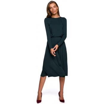 tekstylia Damskie Sukienki długie Style S234 Sukienka fit and flare - ciemna zieleń