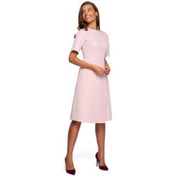 tekstylia Damskie Sukienki krótkie Style S241 Jednoczęściowy kombinezon z podwójnym przodem - czarny