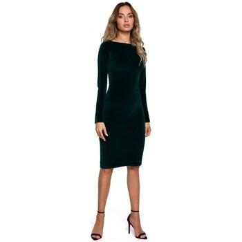 tekstylia Damskie Sukienki krótkie Moe M565 Velvet Pencil Dress - zielony