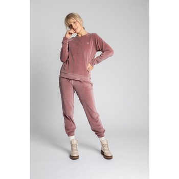 tekstylia Damskie Swetry Lalupa LA011 Velvet Reglan Sleeve Pullover Top - krepa różowy