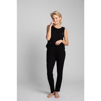 tekstylia Damskie Piżama / koszula nocna Lalupa LA025 Piżama Bottoms z wiskozy - czarny