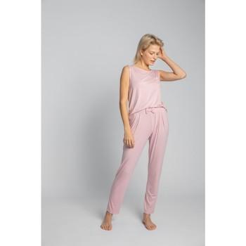 tekstylia Damskie Piżama / koszula nocna Lalupa LA025 Piżama Bottoms z wiskozy - różowy