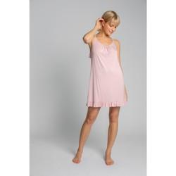 tekstylia Damskie Piżama / koszula nocna Lalupa LA031 Koszulka z wiskozy - różowa