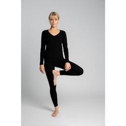 tekstylia Damskie Legginsy Lalupa LA035 Legginsy z prążkowanej bawełny - czarne