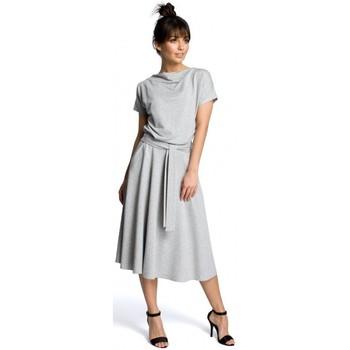 tekstylia Damskie Sukienki krótkie Be B067 Rozkloszowana sukienka - szary