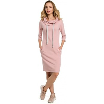 tekstylia Damskie Sukienki Moe M391 Sukienka - puder