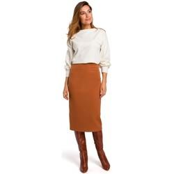 tekstylia Damskie Spódnice Style S171 High waisted pencil skirt - ginger