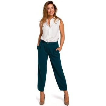 tekstylia Damskie Spodnie z pięcioma kieszeniami Style S172 Sleeveless shirt - ecru