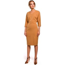 tekstylia Damskie Sukienki krótkie Moe M464 Batwing sleeve dress - cinnamon