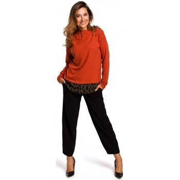tekstylia Damskie Topy / Bluzki Style S195 Layered pullover sweater top - ginger