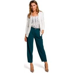 tekstylia Damskie Swetry Style S198 Kardigan z zatrzaskami - ecru