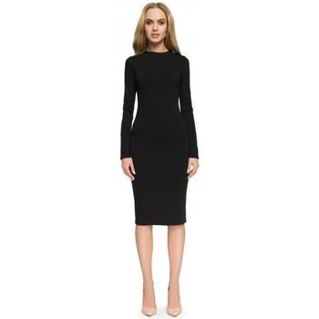 tekstylia Damskie Sukienki Style S033 Sukienka - brąz