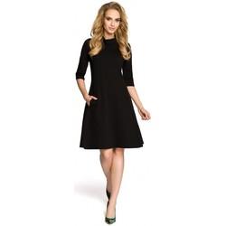 tekstylia Damskie Sukienki krótkie Moe M279 Dress with turtle neck - black
