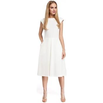 tekstylia Damskie Sukienki krótkie Moe M296 Odwrócona sukienka plisowana - szary