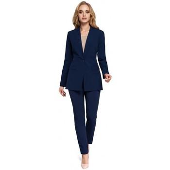 tekstylia Damskie Marynarki Moe M304 One button jacket - navy blue
