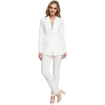 tekstylia Damskie Marynarki Moe M304 One button jacket - ecru