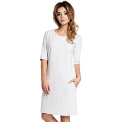 tekstylia Damskie Sukienki krótkie Be B033 Box shift dress - stracciatella