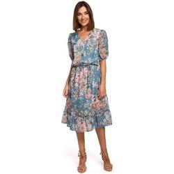 tekstylia Damskie Sukienki krótkie Style S215 Szyfonowa sukienka z falbanami - model 4