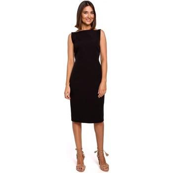 tekstylia Damskie Sukienki krótkie Style S216 Sukienka ołówkowa bez rękawów - czarna