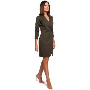 tekstylia Damskie Sukienki Style S217 Blazer dress - khaki