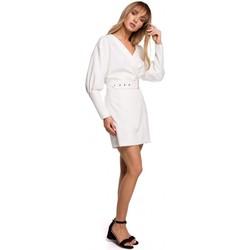 tekstylia Damskie Sukienki krótkie Moe M501 Sukienka mini z rękawem pufa - ecru