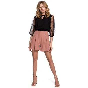 tekstylia Damskie Szorty i Bermudy Makover K049 Relaxed shorts - rose