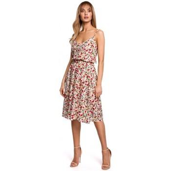 tekstylia Damskie Sukienki krótkie Moe M518 Spaghetti strap a-line dress - model 5